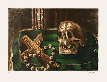 Signed lithograph de Braque Georges : Vanitas