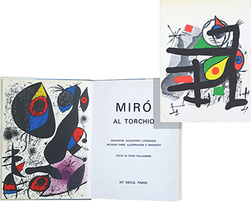Book with lithographs de Miro Joan : Miro al torchio