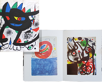 Libro con litografia de  : Miro Paintings Gouaches ...