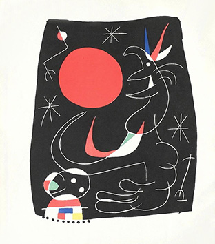 Litografía original de  : Joan Miro, tabla 4