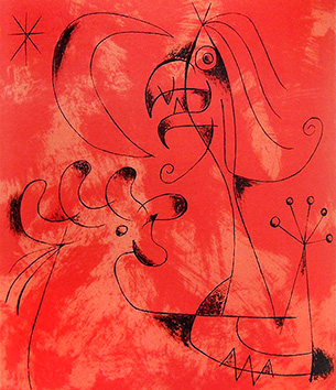 Litografía original de  : Joan Miro, tabla 6
