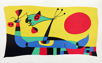 Litografía original de  : Joan Miro, tabla 2