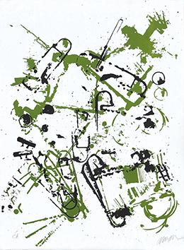 Lithographie originale signée de  : L'intérieur des choses II : Le transistor