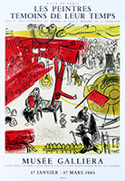 Lithograph poster de Chagall Marc : The Revolution