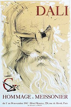 Affiche lithographie de  : Hommage à Meissonier
