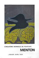 Lithograph poster de  : Biennale de Menton II