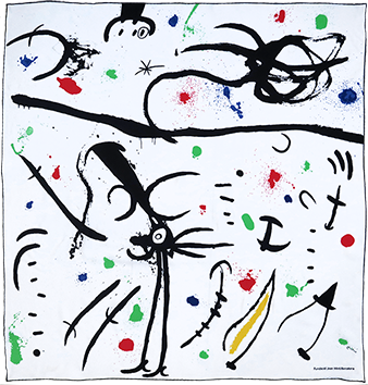 Multiple de Miro Joan : Foulard Fondation Miro