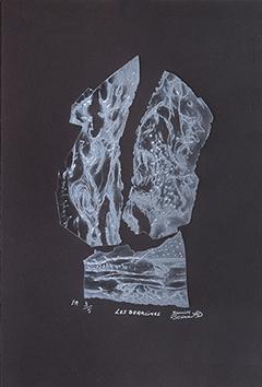 Punta secca originale firmata de  : Les déracinés