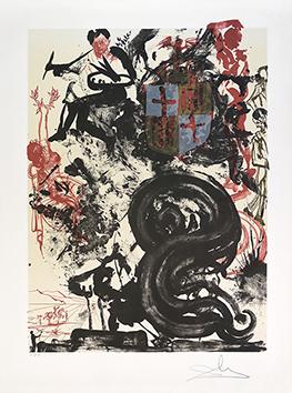 Lithographie originale signée de  : Monument à Picasso III