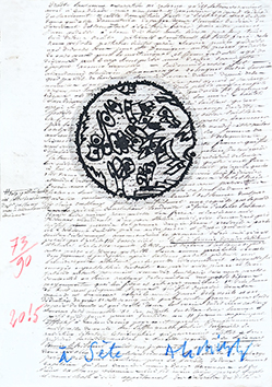 Original signed etching de  : A Sète IV