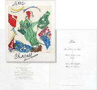 Signed lithograph de  : Menu