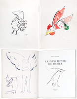 Illustrated book de Chagall Marc : Le dur désir de durer
