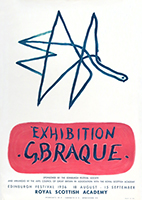 Originales Lithographieplakat de Braque Georges : Exhibition G. Braque