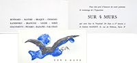 Exhibition invitation card de Braque Georges : Sur 4 murs