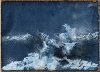 Gouache originale signée de  : La vague fantôme