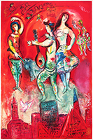 Signed lithograph de Chagall Marc : Carmen (second state)