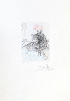 Original signed drypoint de Dali Salvador : Richard IlI