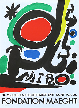 Original lithograph poster de Miro Joan : Retrospective Maeght Fondation