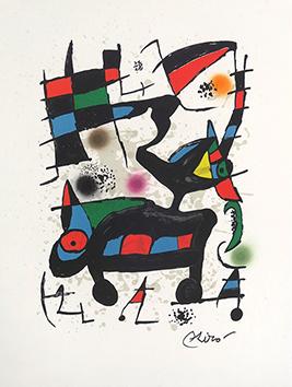 Lithographie originale de  : Oda a Joan Miró