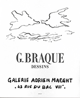 Cartel litografía de Braque Georges : G. Braque Dessins