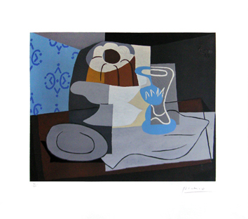 Signed print de Picasso Pablo : Still life with charlotte