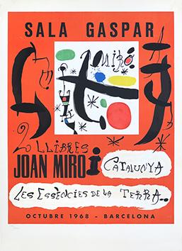 Affiche lithographie originale de  : Joan Miro i Catalunya