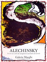 Affiche lithographie originale de  : Encres sur cartes de navigation & peintures de l'année