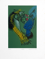 Woodcut after de Chagall Marc : Siren