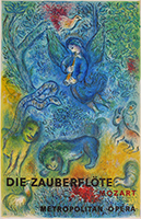 Lithograph poster de Chagall Marc : The Enchanted Flute
