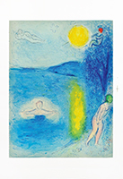 Original lithograph de Chagall Marc : The summer season