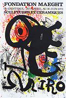 Signed lithograph poster de  : Sculptures et céramiques II
