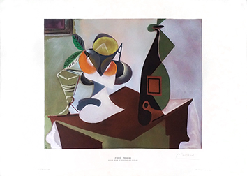 Signed print de Picasso Pablo : Still life with lemons and oranges