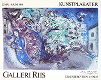 Affiche lithographie de Chagall Marc : Kunsplakater