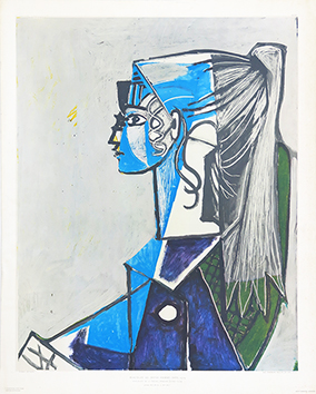 Reproduction de  : Young woman's portrait (XIII), 1954