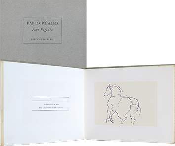 Book by reproductions de Picasso Pablo : Pablo Picasso - Pour Eugenia