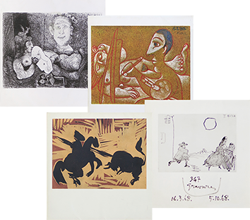 Illustrated books de Picasso Pablo : Catalogues Gallery Louise Leiris