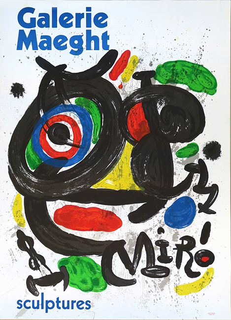 Lithograph poster de Miro Joan : Exhibition Sculptures