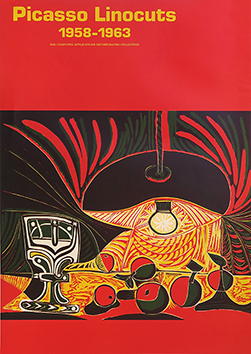 Original exhibition poster de  : Picasso Linocuts 1958-1963