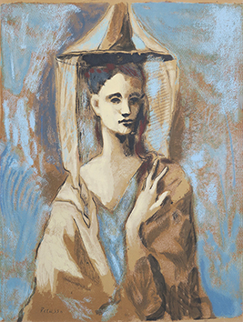 Print de Picasso Pablo : Young woman of Majorca