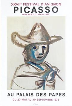 Affiche lithographie de  : XXVIIe Festival d'Avignon