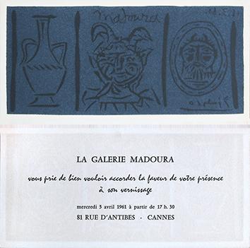 Incisione su linoleum originale de  : Madoura III