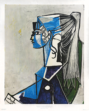 Reproduction de Picasso Pablo : Young woman's portrait (XIII), 1954