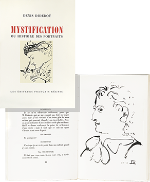 Book with lithographs de Picasso Pablo : Mystification ou histoire des portraits