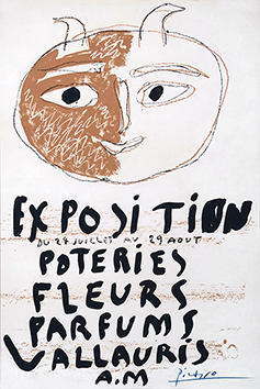 Original signed lithograph de Picasso Pablo : Exhibition Poteries, Fleurs, Parfums Vallauris II