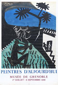 Affiche lithographie de  : Peintres d'Aujourd'hui - Grenoble