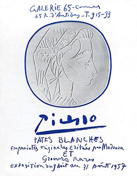 Affiche d'exposition offset de  : Picasso Pâtes Blanches