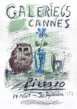 Affiche lithographie originale de  : Galerie 65, Cannes