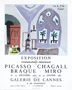 Affiche d'exposition offset de  : Galerie de Cannes 60