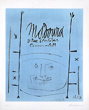 Linogravure originale signée de  : Madoura 61