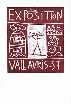 Original linocut de  : Exhibition Vallauris 57